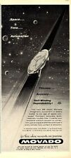 """1960 Movado Kingmatic """"Space...Time...Automation""""  PRINT AD"""