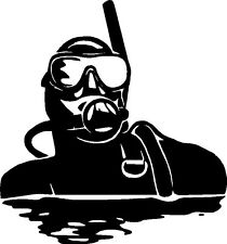 Scuba Diver at the Surface Sticker,Decal, Graphic