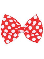Jumbo Spotted Bow Tie Red & White Polka Dot Clown Adult Fancy Dress Accessory