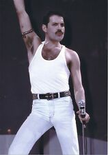 FREDDIE MERCURY QUEEN LIVE AID PHOTO 1985 UNIQUE UNRELEASED HUGE 12 INCH COLOUR