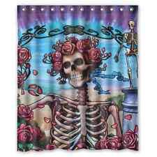 Hot New Design Custom Grateful Dead Waterproof Shower Curtain 60x72 Bath Curtain