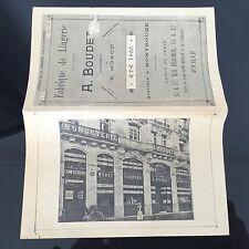 Catalogue Ancien 1900 A. Boudet Fabrique Lingerie Magasin Rue Réaumur Paris