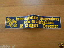 STICKER,DECAL 1983 INT ICERACE SOLO EN ZIJSPANNEN DEVENTER 12-13 MAART  ,IJSRACE
