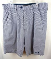 MEN'S OAKLEY Golf Cotton Checked Flat Front Shorts Size 30W