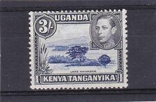 KENYAUGANDA AND TANGANYIKA 1938 3/- DULL ULTRAMARINE & BLACK  SG.147 MLH {ref3}