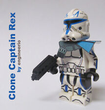 LEGO Custom Star Wars Clone Trooper Minifigure Captain Rex Phase 2 Jetpack 75012
