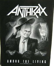 "ANTHRAX RÜCKENAUFNÄHER / BACKPATCH # 4 ""AMONG THE LIVING"""