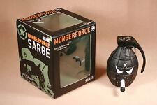 """Frank Kozik SIGNED Kidrobot 5"""" SDCC Black Anarchy Grenade Sarge Monger LE 130"""
