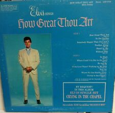 "Young ELVIS PRESLEY   ""HOW GREAT THOU ART""   RCA  LSP-3758 Record  LOOK"