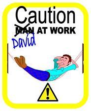 Men at Work door sign, Funny wall  door sign