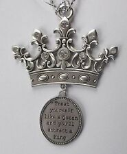 c Treat yourself like a queen attract king TIARA CROWN Car Mirror Charm ORNAMENT