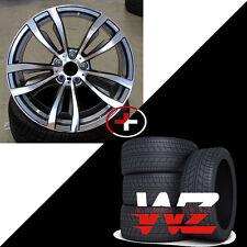 "20"" Rims BMW 469 Style fits X5 X6 X5M X6M Gunmetal Machined Wheels w Tires 5X120"