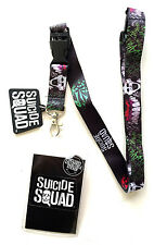 DC COMICS SUICIDE SQUAD THE JOKER LANYARD BADGE ID HOLDER KEYCHAIN RUBBER CHARM