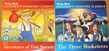 The Three Musketeers / Adventures Of Tom Sawyer (2 x Animated DVDs)