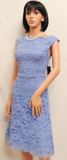 LESLIE FAY Bluebell Blue Lace Sleeveless Social Party Dress 12 NWT