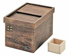 ya07785 Japanese Wooden Rice Storage Container Made in PEARL METAL11 lbs H-5549