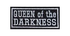 Queen of the Darkness Biker Heavy Rocker PATCH RICAMATE tonaca MOTO Stick