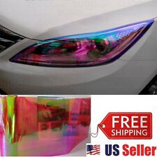 "12""x48"" Chameleon Neo RED Color Headlight Taillight lamp Fog Vinyl Tint Film"