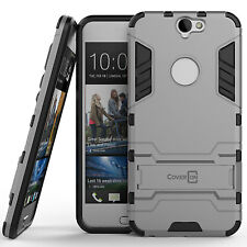 For HTC One A9 Case Silver & Black Hard Hybrid Dual Layer Phone Cover