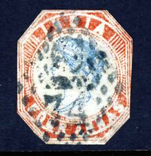 INDIA 1855 4 Annas 4th. Printing Blue & Red Frame Die II Head Die III SG 24 VFU