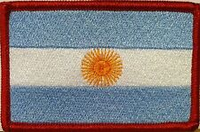Argentina Flag Embroidery Iron-On Patch Military Emblem   Red  Border
