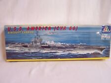Italeri No 521 USS America Aircraft Carrier 1-720 Italy Model Kit new sealed