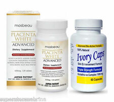 Mosbeau Placenta White Advanced skin careTablets  + Ivorycaps Pills 1500mg