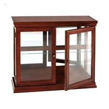 Curio Cabinet Display Glass Storage Shelf Shelves Decor Case Corner Furniture