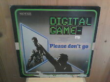"DIGITAL GAME please don't go 12"" MAXI 45T Italo"