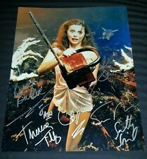 """EVIL DEAD Cast (x7) """"Bruce Campbell/ Sam Raimi"""" Hand-Signed 11x14 Poster (PROOF)"""