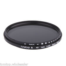 NEW 58mm ND Fader Adjustable ND2 to ND400 Variable Filter for Canon Nikon Camera