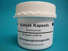 Konjac Kapseln 2 Dosen mit je 180 x 500 mg Konjak (100g /18,77 € )Glucomannan