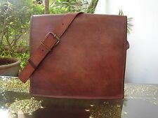 "Vintage Leather Briefcase Laptop Messenger Bag School 13"" Macbook Satchel Bag"