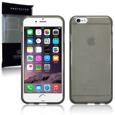 Genuine High Impact Rubberised Gel Case Micro Thin Bumper Smoke Black  iPhone 6S