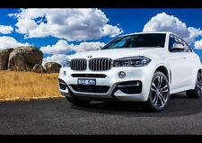 BMW X6 M50D NEW A2 CANVAS GICLEE ART PRINT POSTER FRAMED