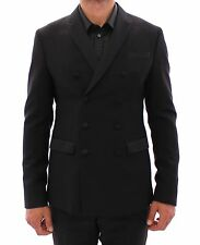 NWT $1600 EMPORIO ARMANI Black Slim Fit Wool Smoking Tuxedo Suit EU48 /US38 / M