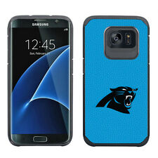 Samsung Galaxy S7 EDGE ONLY Carolina Panthers NFL Pebble Grain Feel Case