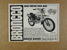 1971 Broncco APACHE 100 Motorcycle photo vintage print Ad