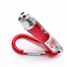 Practical 3 in 1 Portable LED Laser Torch Light Flashlight Pointer Keychain