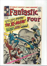 Fantastic Four #28/Silver Age Marvel Comic Book/Early X-Men Crossover/FN