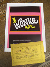Willy Wonka & The Chocolate Factory - Replica Wonka Wrapper and Golden Ticket