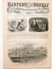Harper's Weekly Page Civil War Cover Powder for Petersburg Mine Explosion  1864