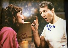 "MARRIED W/ CHILDREN ED O'NEIL  KATEY SAGAL AUTOGRAPHED 11"" x 14"" PHOTO PSA DNA"