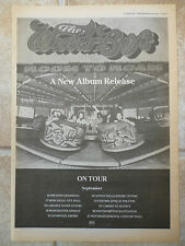"THE WATERBOYS - ROOM TO ROAM 1990 TOUR, B&W, N.M.E ADVERT POSTER 11.7""X 16.7"""