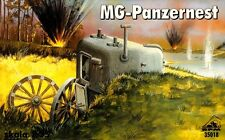 PANZERNEST WITH MG34 - MACHINE GUN PIL BOX (WW II GERMAN MOBILE BUNKER) 1/35 RPM