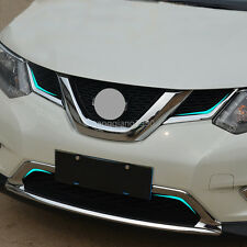 4*Front Bottom Grille Grill cover trim For Nissan Rogue X-Trail 2014 2015 2016