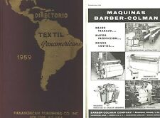 1959 PANAMERICAN TEXTILE DIRECTORY (OLD TEXTILE EQUIPMENT ADS