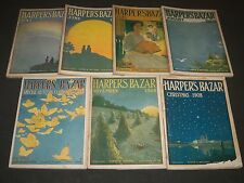 1908 HARPER'S BAZAR MAGAZINE LOT OF 7 ISSUES - GREAT ILLUSTRATIONS & ADS- WR 62