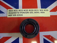 BSA LUCAS MAGNETO PINION OIL SEAL 65-2316 B31 B33 M20 M21 GOLD STAR ETC