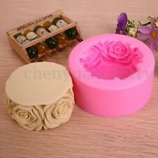 Silicone Rose Soap Mould Cake Chocolate Baking Mold Candle Pan DIY Tool Handmade